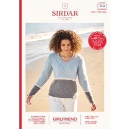 S10052 Ladies V Neck, 3 Colourway Sweater in Sirdar Girlfriend