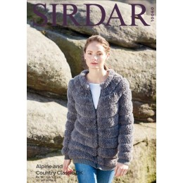 S10060 Ladies Zipped Jacket in Sirdar Alpine Chunky and Country Classic DK
