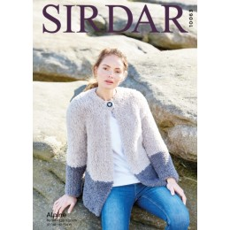 S10063 Ladies Two Toned Jacket in Sirdar Alpine Chunky
