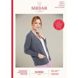 S10070 Ladies V Neck Jacket in Sirdar Soiree