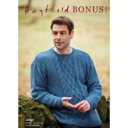 S10078 Men's Sweater in Hayfield Bonus Aran