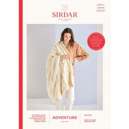 S10194 Cable Blanket in Sirdar Adventure Super Chunky