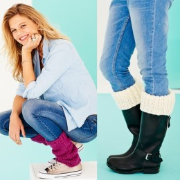 St0608 Legwarmers, Headband, Welly Toppers and Wristlets for Women and Children in Special XL