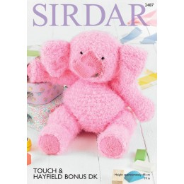 S2487 Elephants in Sirdar Touch & Hayfield Bonus DK