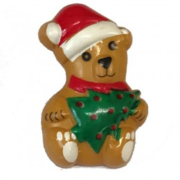 Christmas Bear Button 28mm