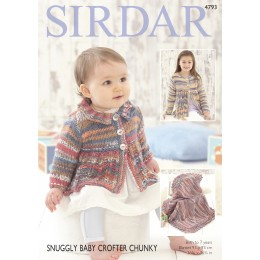 S4793 Blanket and Coat for Babies in Sirdar Snuggly Baby Crofter Chunky
