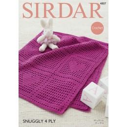S4807 Crochet Baby Blanket in Sirdar Snuggly 4ply