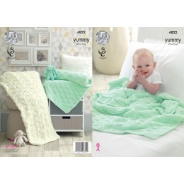 KC4822 Baby Blanket in King Cole Yummy
