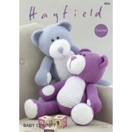 S4836 Crochet Bear Toys in Hayfield Baby Chunky
