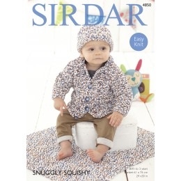 S4850 Cardigan and Blanket for Babies in Sirdar Snuggly Squishy