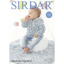 S4852 Jumper and Blanket for Babies in Sirdar Snuggly Squishy