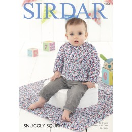 S4855 Jumper and Blanket for Babies in Sirdar Snuggly Squishy