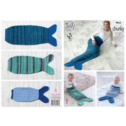 KC4865 Mermaid Blankets in King Cole Chunky