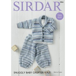 S4866 Jacket & Trousers in Sirdar Snuggly Baby Crofter 4Ply
