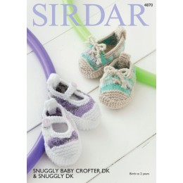 S4870 Baby's Shoes in Sirdar Snuggly Baby Crofter DK & Snuggly DK