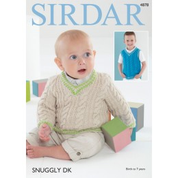 S4878 Sweater & Tank Top in Sirdar Snuggly DK