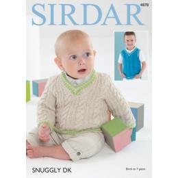S4878 Sweater & Tank Top in Sirdar Snuggly DK