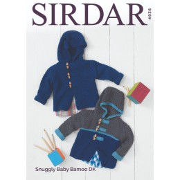 S4936 Baby Boy's Duffle Coat in Sirdar Snuggly Baby Bamboo DK
