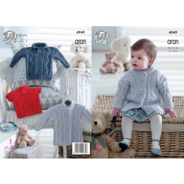 KC4949 Coat, Sweater and Pullover for Babies in King Cole Comfort Aran