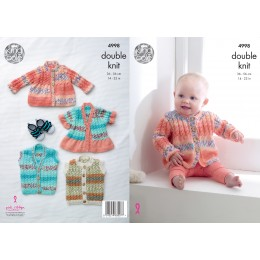 KC4998 Jackets and Gilets for Babies in Various King Cole DK