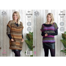 KC5021 Tunic and Top for Women in King Cole Sprite DK