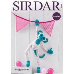 S5156 Crochet Monkey in Sirdar Snuggly Spots DK & Snuggly DK