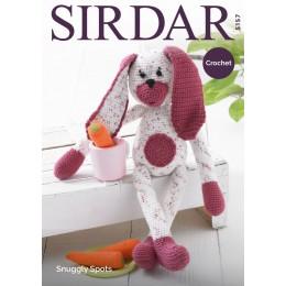 S5157 Crochet Rabbit in Sirdar Snuggly Spots DK & Snuggly DK