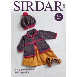 S5173 Coat & Beret in Sirdar Snuggly Doodle DK & Sirdar Snuggly DK