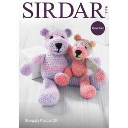 S5176 Crochet Mummy & Baby Bear in Sirdar Snuggly Rascal DK