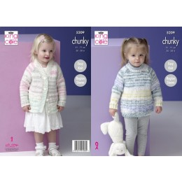 KC5209 Sweater and Cardigan in King Cole Comfort Cheeky Chunky