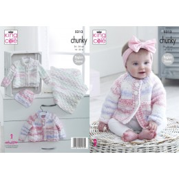 KC5213 Cardigans, Hat and Blanket in King Cole Comfort Cheeky Chunky