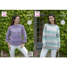 KC5302 Ladies Sweater and Tunic in King Cole Chunky