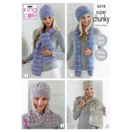 KC5318 Ladies Scarves and Hats in King Cole Gypsy