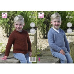 KC5324 Boys Sweaters in King Cole Big Value Chunky