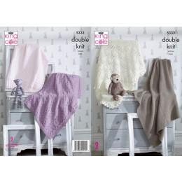 KC5333 Blankets in King Cole Comfort DK