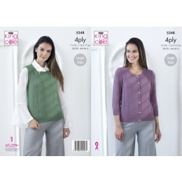 KC5348 Ladies Top and Sweater in King Cole 4 Ply