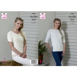 KC5363 Ladies Top and Tunic in King Cole DK