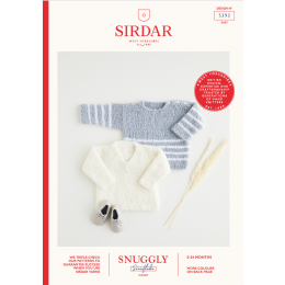 S5393 Baby Sweaters in Sirdar Snuggly Snowflake Chunky