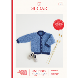 S5394 Baby Bomber Jacket in Sirdar Snuggly Snowflake Chunky