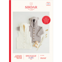 S5395 Hooded Gilet & Jacket for Babies in Sirdar Snuggly Snowflake Chunky