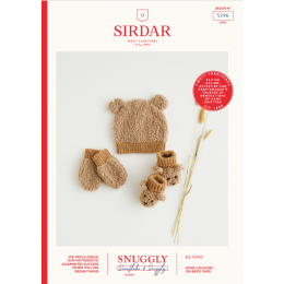S5396 Baby's Hat, Mittens & Booties in Sirdar Snuggly Snowflake Chunky