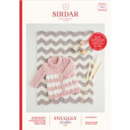 S5402 Baby Coat & Blanket in Sirdar Snuggly Snowflake Chunky