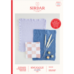 S5403 Baby Blankets in Sirdar Snuggly Snowflake Chunky