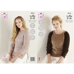 KC5514 Women's Sweater & Tunic in King Cole Truffle DK