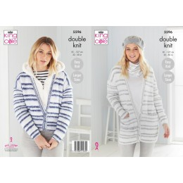 KC5596 Women's Cardigans & Snood in King Cole Stripe DK