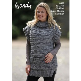 TRW6079 Women's Easy Knit Tunic in Wendy Harris Super Chunky
