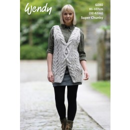 TRW6080 Cross Cable Top in Wendy Harris Super Chunky