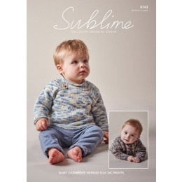 SU6143 Baby Boy's Sweaters in Sublime Baby Cashmere Merino Silk DK Prints