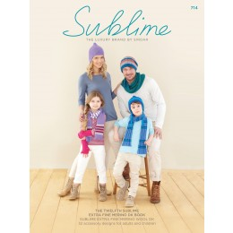 SU714 The Twelfth Sublime Extra Fine Merino DK book; 32 Accessories for the Family