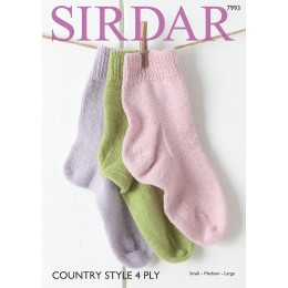 S7993 Socks for Women in Sirdar Country Style 4ply